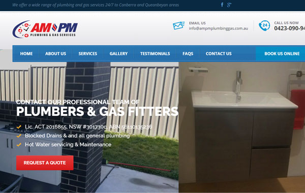 AM PM PLUMBING & GAS SERVICES, CANBERRA, AUSTRALIA